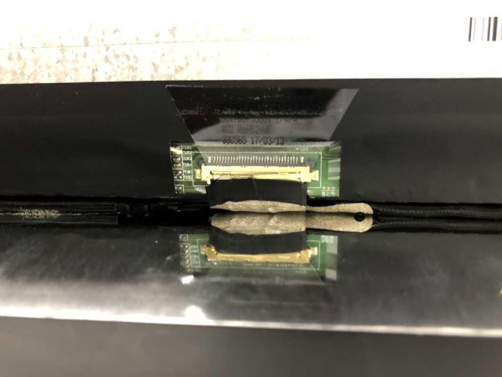 LCDケーブル接続部