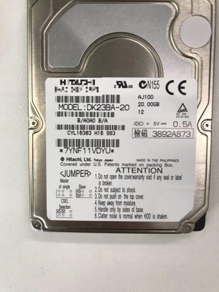 Windows 2000のNECノートPC(PC-LX60T51EC)のデータ確認依頼