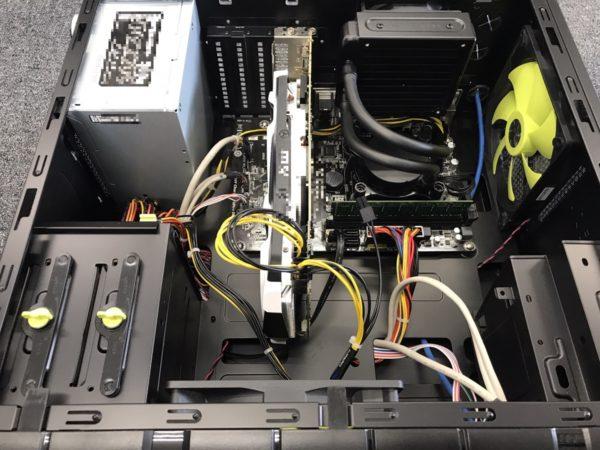 電源が入らなくなったデスクトップパソコンの電源ユニット交換とクリーニング