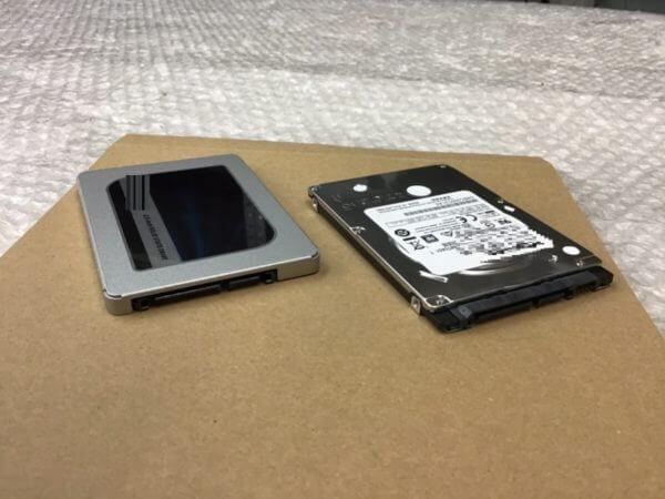 動作が遅いノートパソコンのSSD換装事例