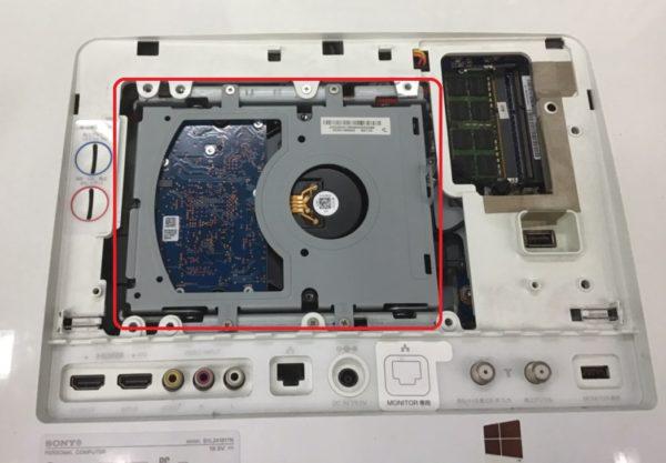 SVL24148CJW 内蔵ハードディスク換装