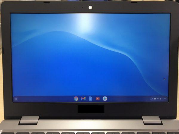 Chromebookのデスクトップ画面