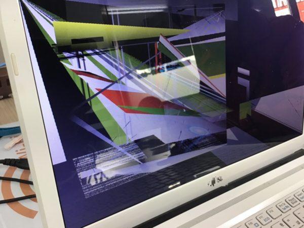 パソコンの画面の表示がおかしいトラブルの修理事例