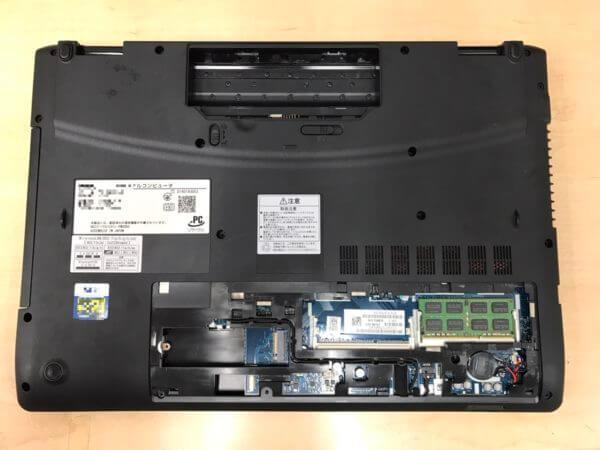 NECノートPC LAVIE DirectのSSD換装