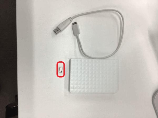 USB端子が折れた外付けHDD①