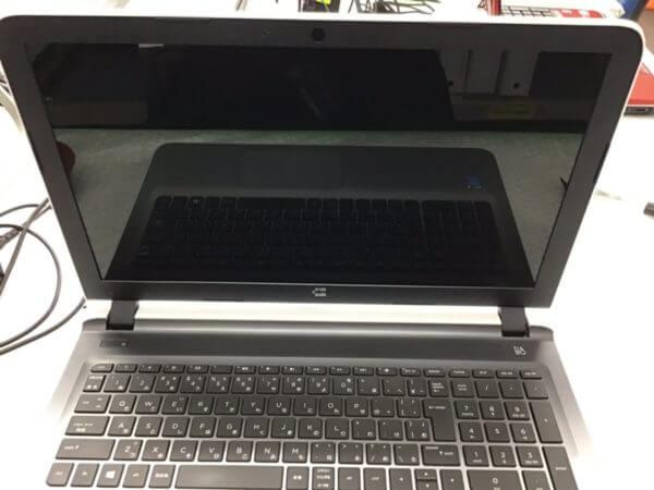 HPノートパソコン(15-ab028TU)の画面が映らないトラブルの修理