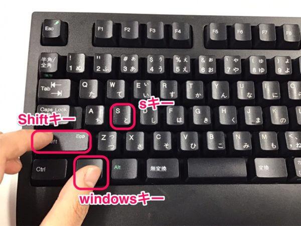3つのキーを押した状態