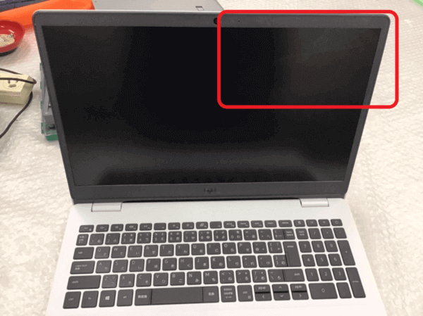 DELLノートパソコン Inspiron 3501の液晶割れのパネル交換