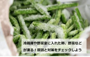 冷蔵庫や野菜室に入れた卵、野菜などが凍る!原因と対策をチェックしよう