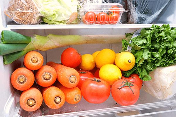 食品の入れすぎと庫内の管理