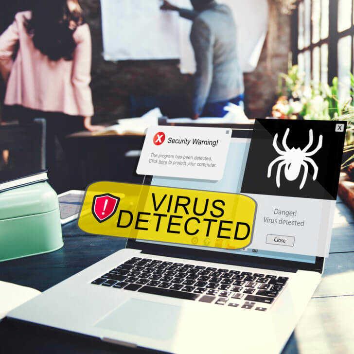 ウイルスが検出されました