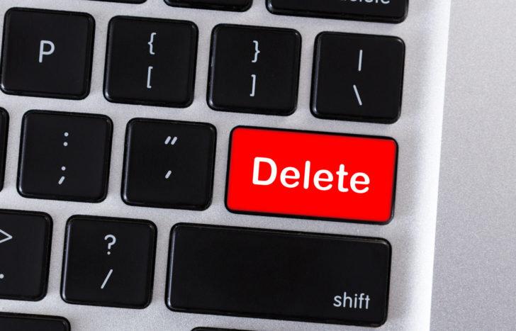重たくなる原因のファイルを削除