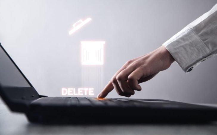 ノートパソコンのDeleteボタン