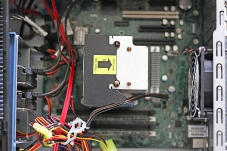 デスクトップパソコンの内部