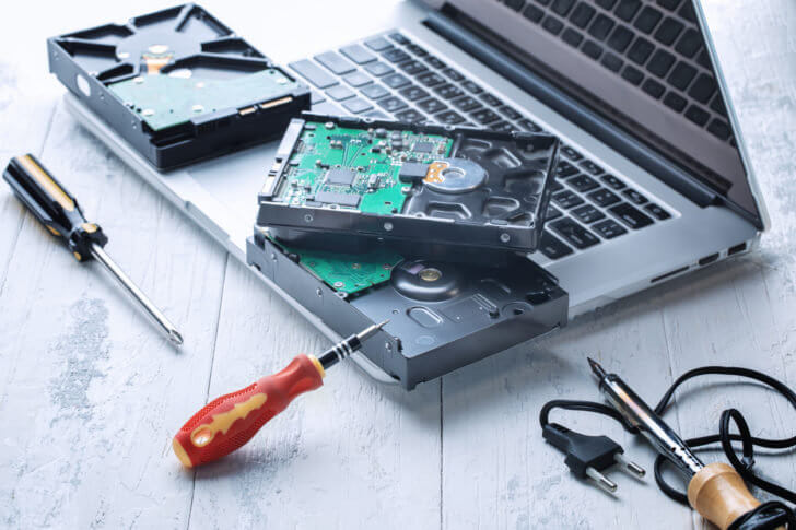 ノートPCのHDD